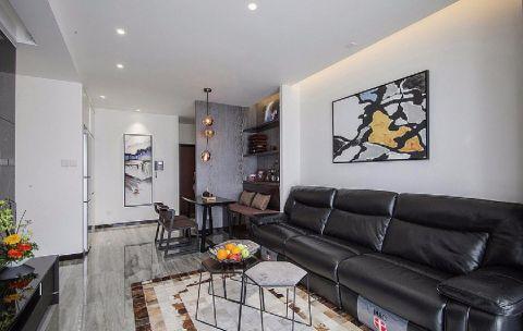 大富绿洲110平现代简约风格三居室装修效果图