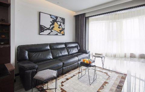 客厅背景墙现代简约风格装饰图片
