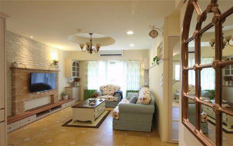 中环湖滨公馆99平美式风格三居室装修效果图