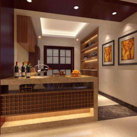 厨房吧台新中式风格装潢设计图片
