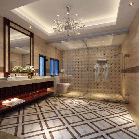 卫生间吊顶新中式风格装修效果图