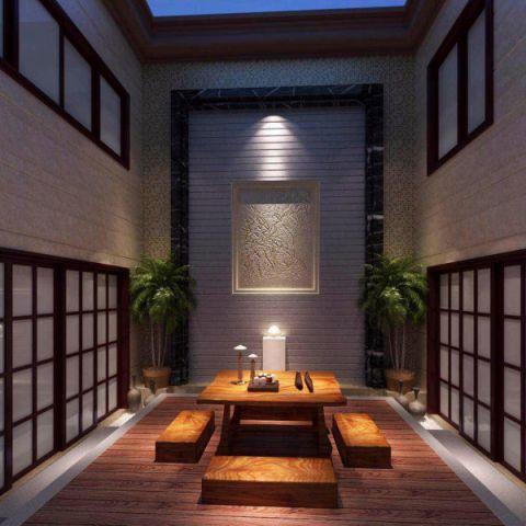 客厅地板砖新中式风格装饰效果图