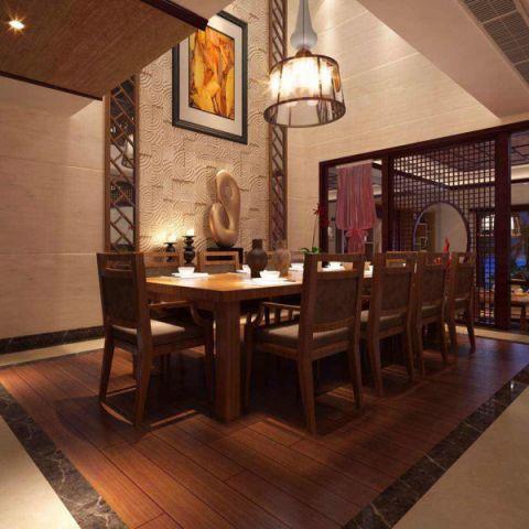 餐厅橱柜新中式风格装潢效果图