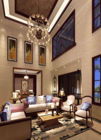 客厅茶几新中式风格装修图片
