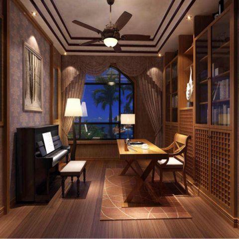 书房窗台新中式风格装饰图片