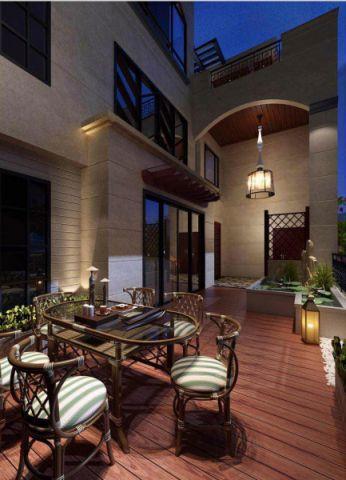 阳台地板砖新中式风格装潢图片