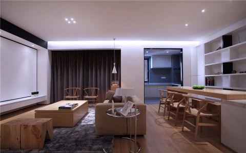 闽江世纪城120平米现代简约风格三居室装修效果图