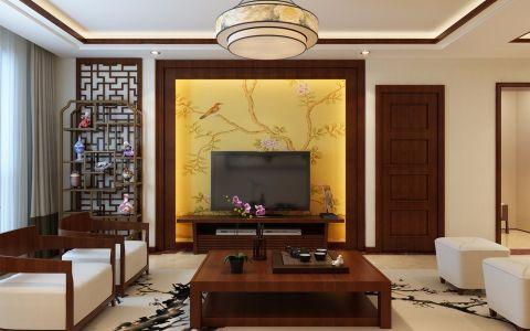 上城雅苑146平新中式风格三居室装修效果图