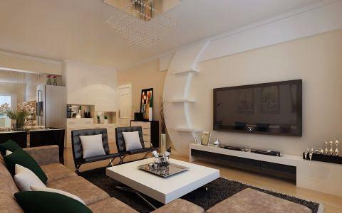融泽家园98平现代简约两居室装修效果图