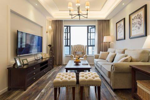 客厅电视柜美式风格装饰图片