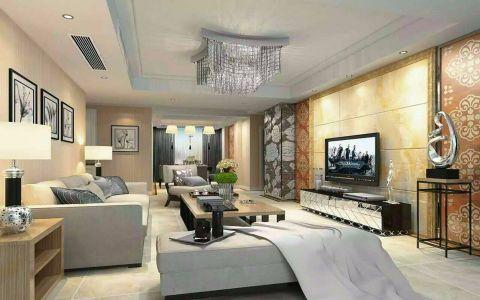 威尼斯134.7平方现代风格二居室装修效果图