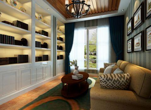 书房博古架美式风格装修图片