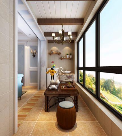 阳台隔断美式风格装潢图片