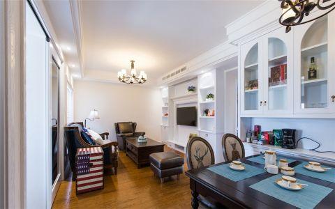 名门华府88平美式风格三居室装修效果图