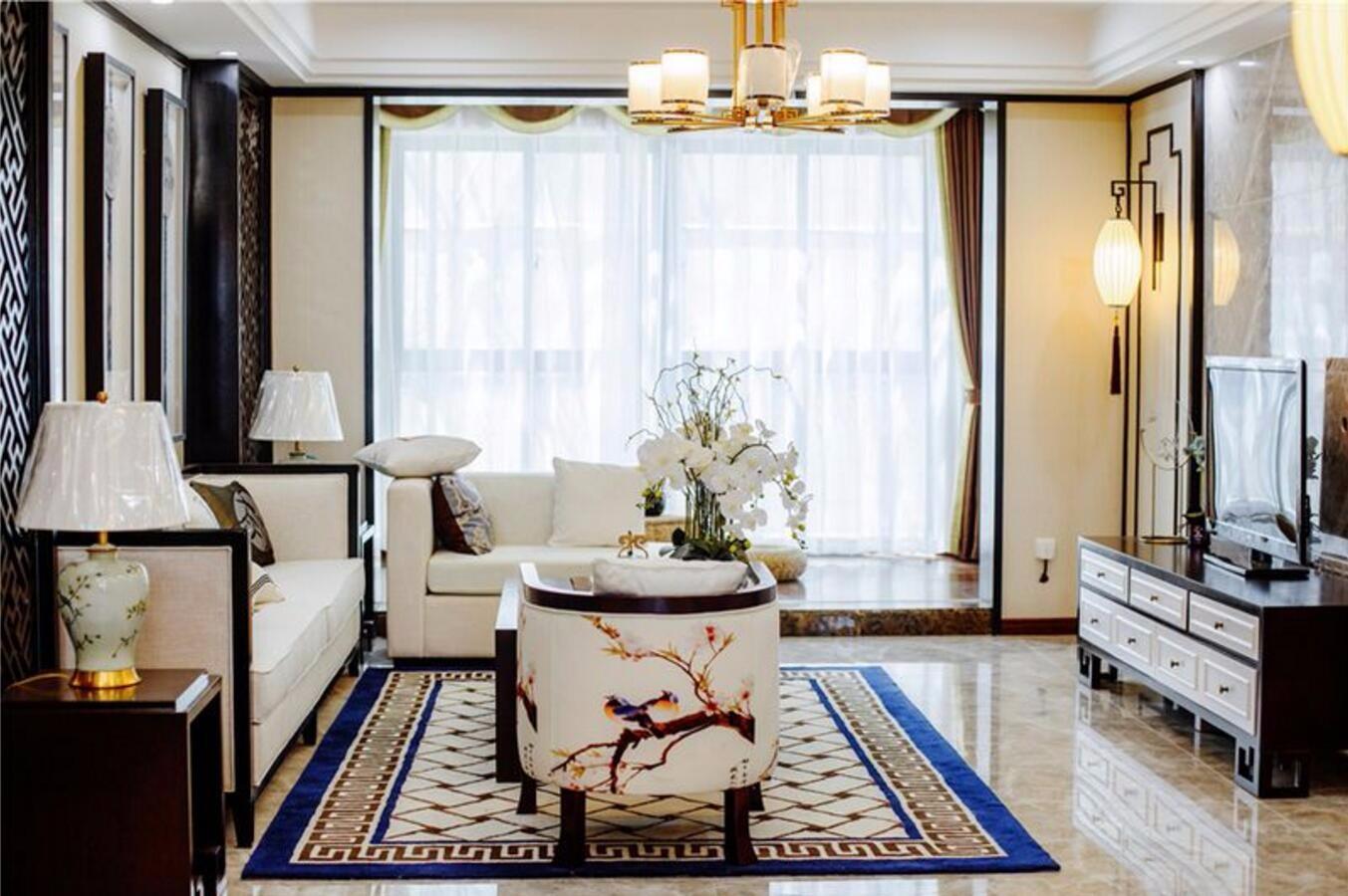3室1卫2厅136平米新中式风格