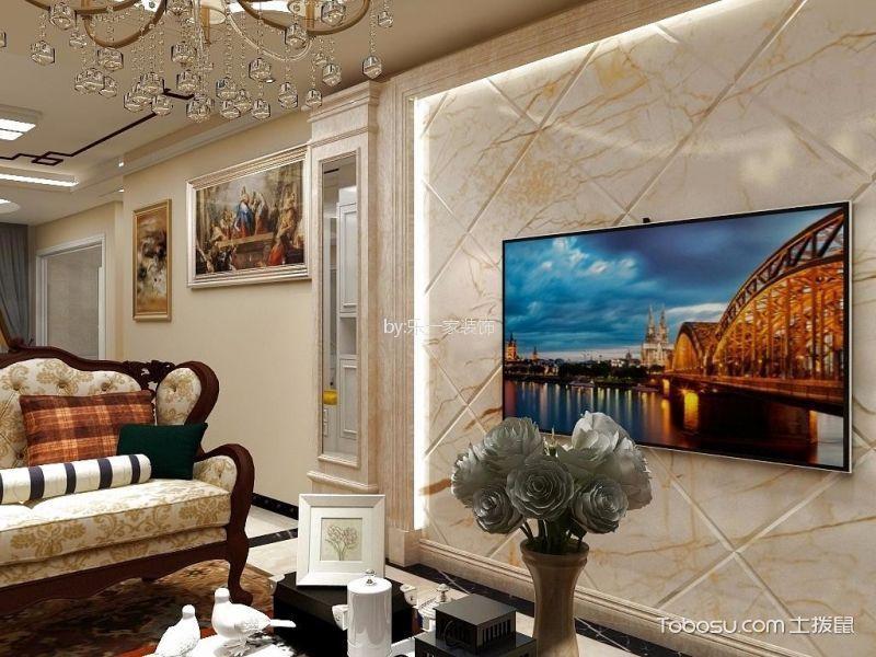 中冶玉翠园130m²欧式三居室装修效果图