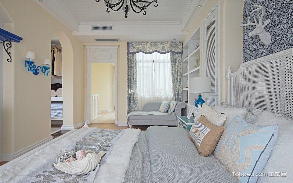 宝祥苑100平地中海风格三室一厅装修效果图