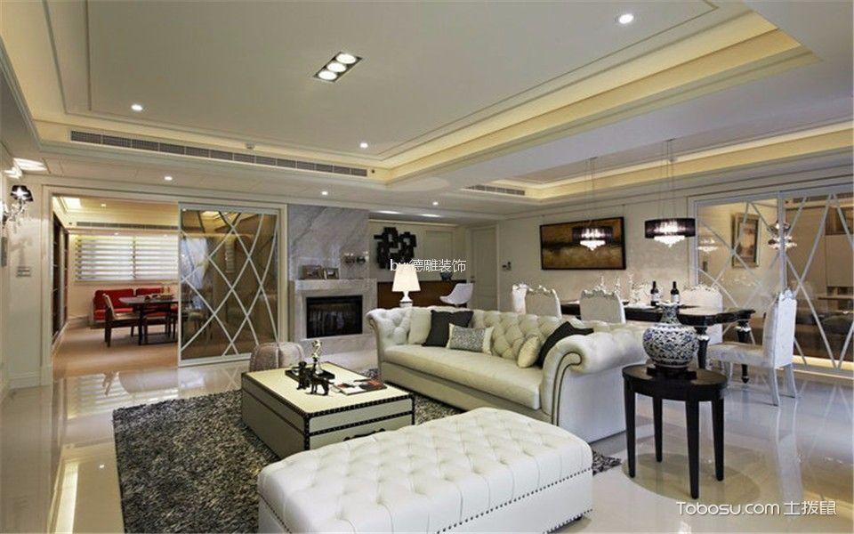 融侨悦府145m²简欧风格三居室装修效果图