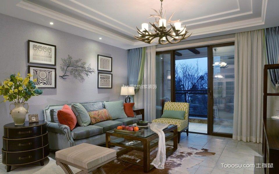 可园里80平田园风格两室一厅装修效果图