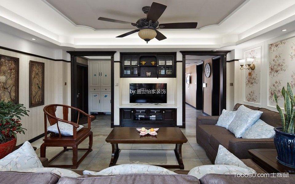 翰雅园80平混搭风格两室一厅装修效果图