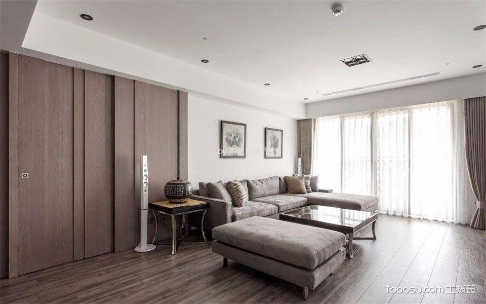 华润二十四城6期136㎡现代风格3室2厅2卫装修效果图