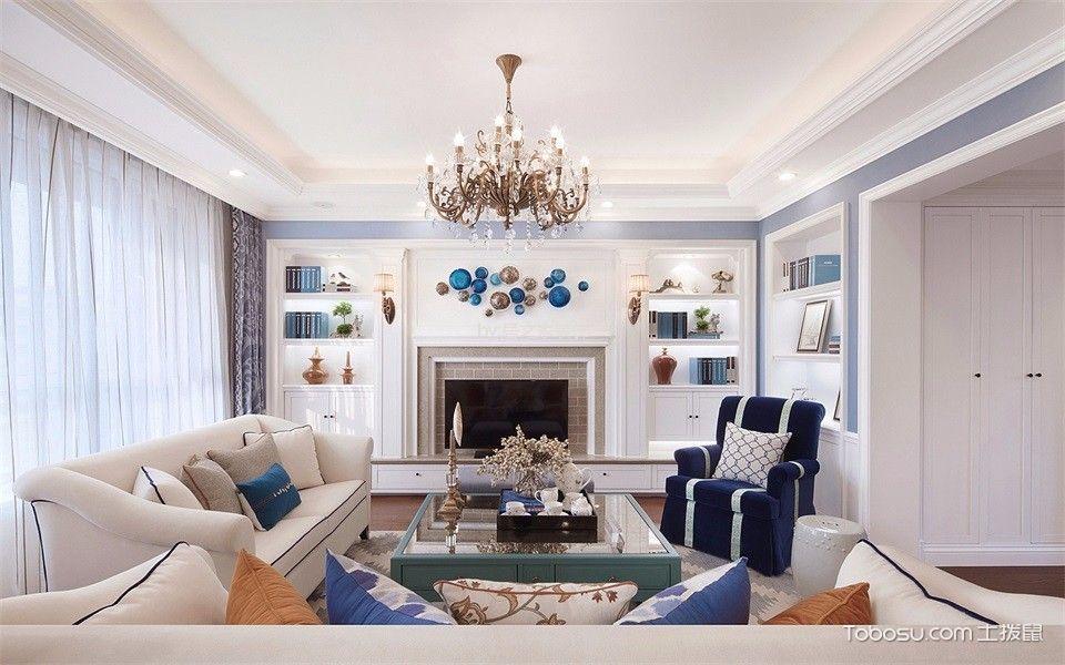 牧马山280㎡美式风格别墅装修效果图