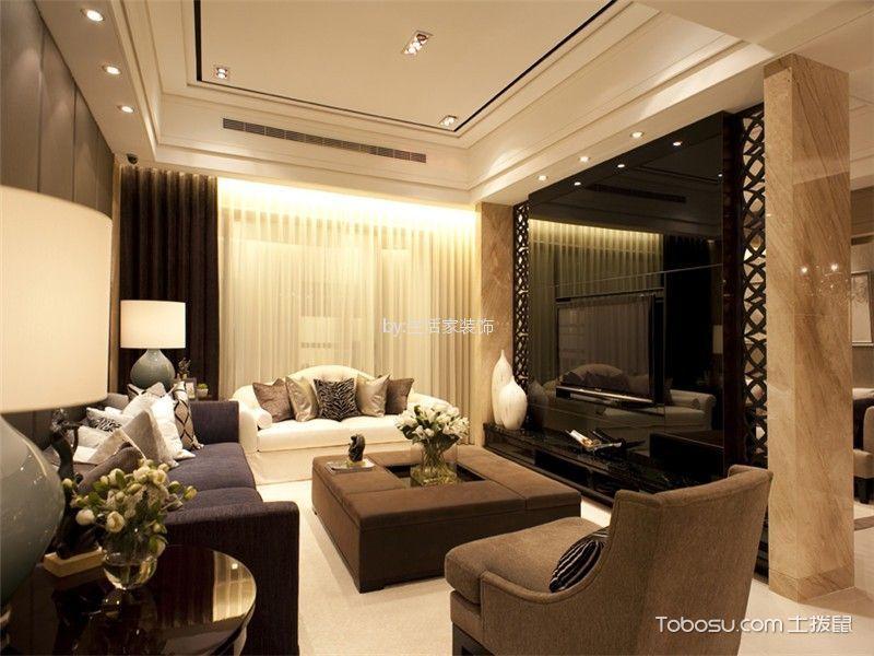 融科瀚棠128平现代简约三居室装修效果图