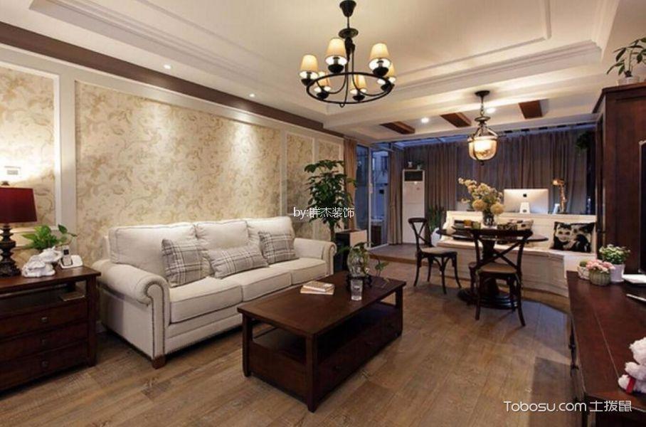 杭州82平美式风格风格三居室装修效果图