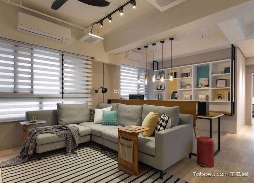 杭州85平现代简约风格三居室装修效果图