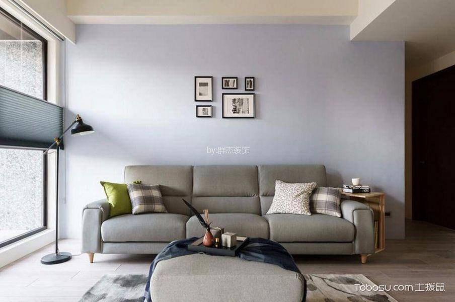 杭州88平简约风格三居室装修效果图
