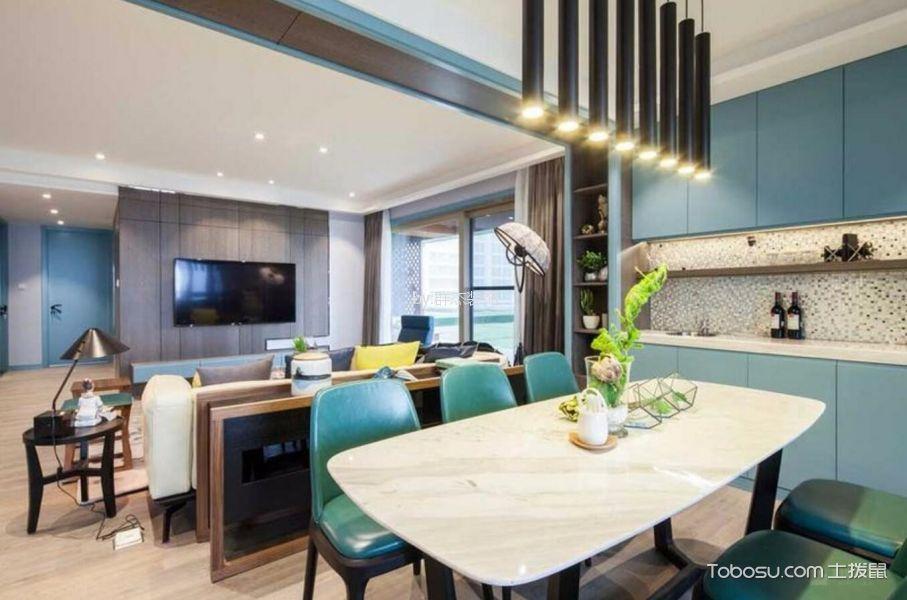 客厅 隔断_杭州100平现代风格三居室装修效果图