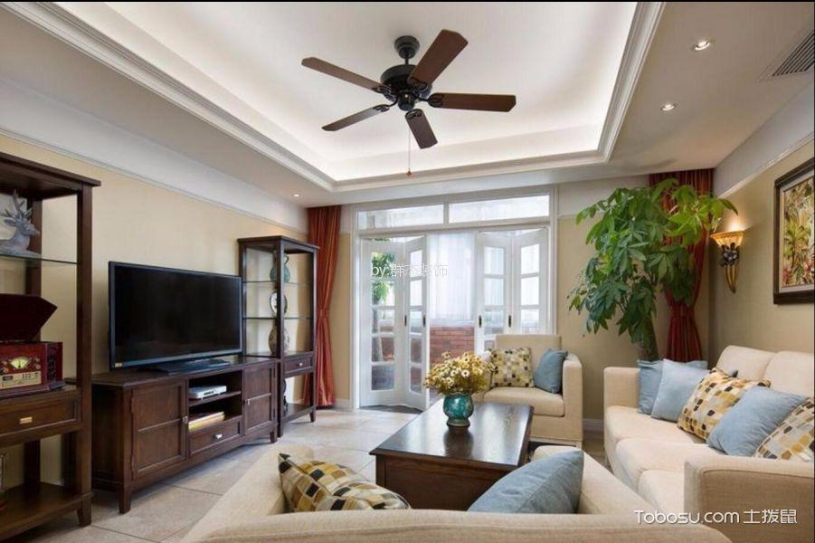 杭州112平美式风格三居室装修效果图