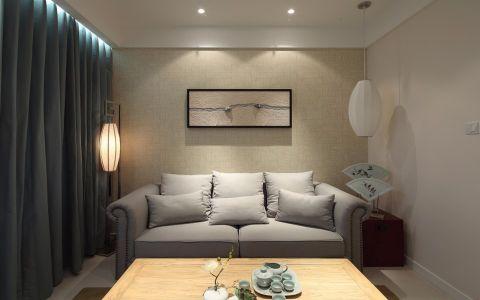吾悦广场98平二居室混搭风格装修效果图