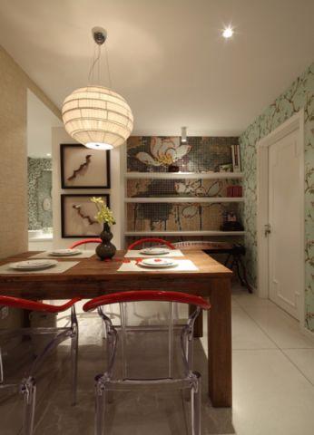 餐厅隔断混搭风格装饰设计图片