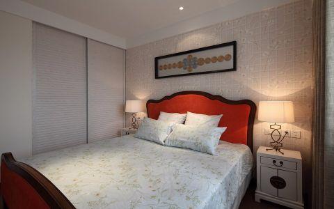 卧室推拉门混搭风格装潢设计图片