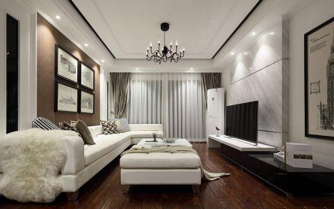客厅窗帘美式风格装潢效果图