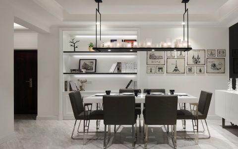 京城豪苑三居室美式风格装修效果图