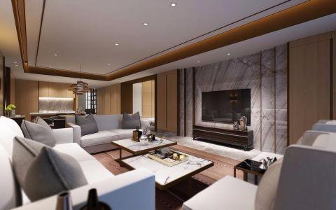 客厅背景墙简约风格装饰效果图