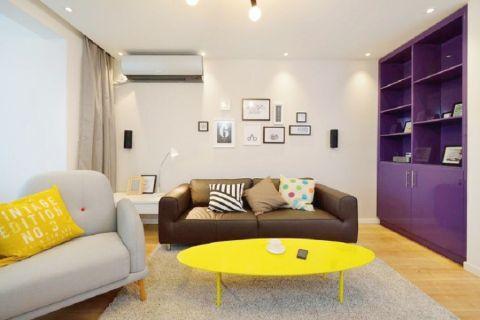 龙珠龙城花园80平方现代风格两室两厅装修效果图