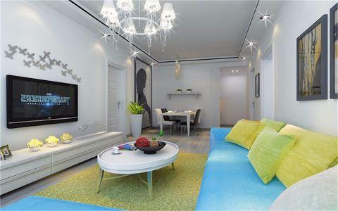 南湖公馆80平简约风格两居室装修效果图