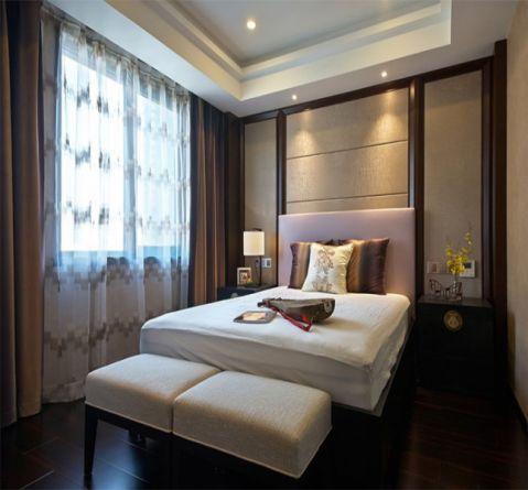 卧室床中式风格装潢设计图片