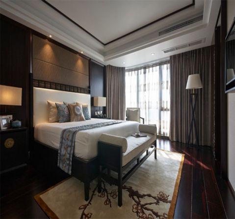 卧室窗帘中式风格装修效果图