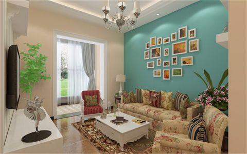 蓝鹰美庐80平米现代简约风格两居室装修效果图