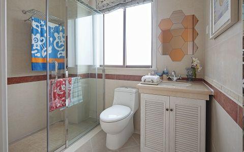 卫生间白色细节地中海风格装潢图片