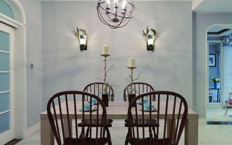 餐厅白色细节田园风格装潢效果图