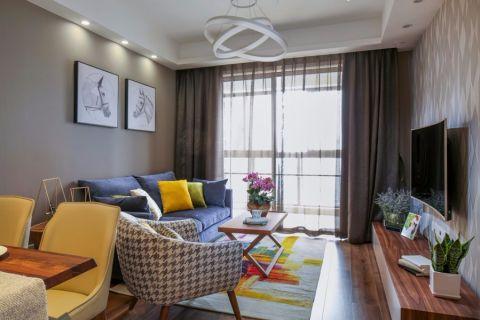 繁华里90平简约风格二居室装修效果图