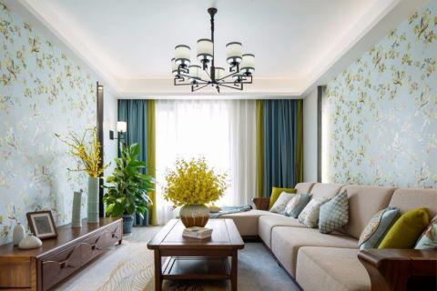 建乐家园140平新中式风格四居室装修效果图