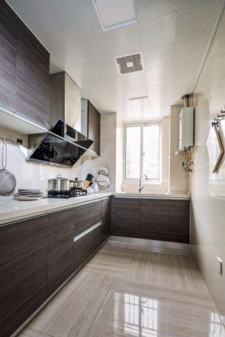 厨房背景墙新中式风格装潢图片