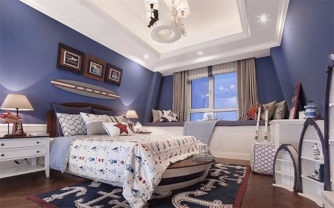 卧室窗台美式风格装饰效果图