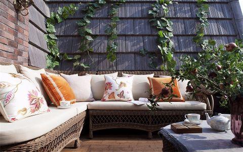 阳台楼梯美式风格装潢效果图